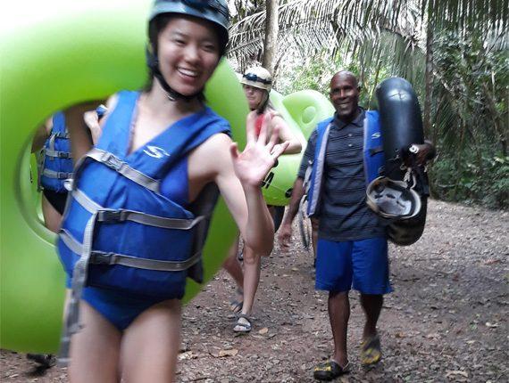 Cave Tubing - Inland Adventures - Hike through the jungle - Float through the Maya underworld - Anda De Wata Tours - Belize