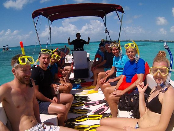 Manatee Tour - Snorkel Tours - Belizes Manatee - Anda De Wata - Sand Bar lunch access - Enjoy two killer snorkel stops along Belizes Barrier Reef